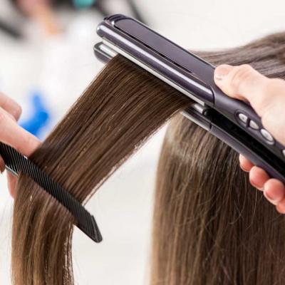 Укладка волос с прессом